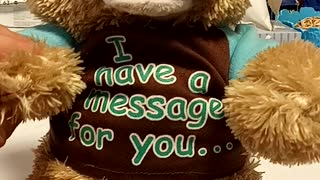 Teddy has a message for you!
