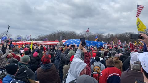 Giant Flag at #SaveAmericaMarch 6JAN21