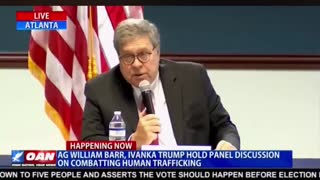Attorney General William Barr Talks about Child Trafficking