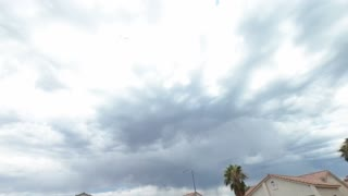 Storm comes over North Vegas in 4k