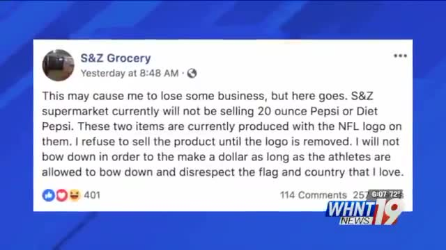 Michael Berry - Alabama grocery store pulls Pepsi, Gatorade products with NFL logo