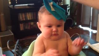 Baby's hilarious reaction to a wash cloth! - Video