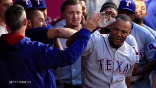 Adrian Beltre Laughs Off Wild Pitch - Video