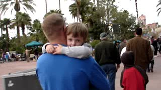 """Dad Carries Boy Who Won't Stop Saying """"I Love You"""""""