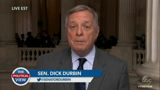 Sen. Dick Durbin Defends Claims That Trump Said 'S**thole' — Gets Cornered by Meghan McCain - Video