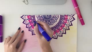HOW TO DRAW MANDALA ZENART  - Video