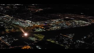 About to land at Pearson Airport in Toronto