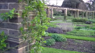 Flowers, sleepy ducks, waterfalls and kitchen garden at Kew Gardens, London  - Video