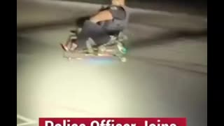 Police Officer shows off Go-Cart Skills.. Or Not..