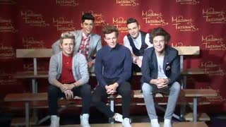 One Direction enshrined in life-like wax figures - Video