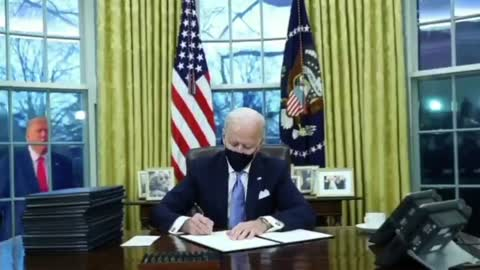 Donald Trump dancing outside Oval Office - extended version