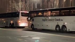 JUST IN - Busloads of National Guard members arriving in D.C.
