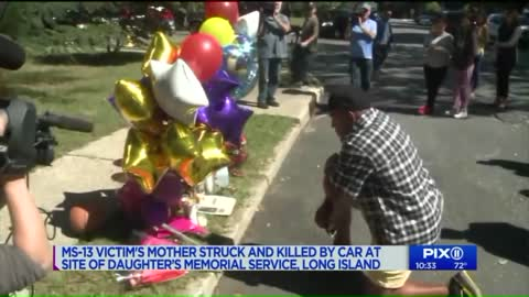 New York Mother of MS-13 victim fatally struck by car