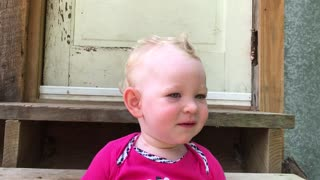 Sweet Little One Year Old Makes Animal Sounds  - Video