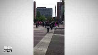 Vehicle Hits Pedestrians in Downtown Portland