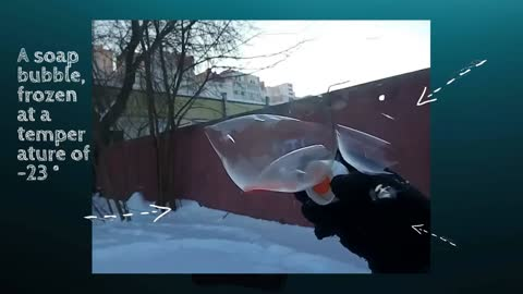 Pop a frozen soap bubble