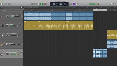 How To Create Garage Band Arrangement Track [ Step by Step in under 5 minutes ]