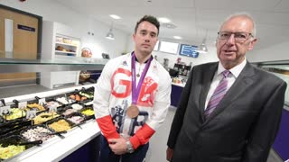 Kristian Thomas opens new WV cafe at the Civic Centre - Video