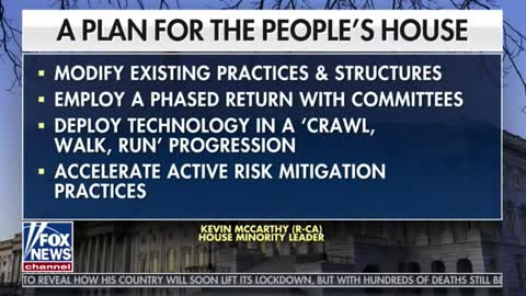 Rep. Kevin McCarthy releases plan to re-open Congress