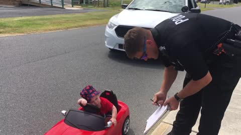 Police Officer Tickets Speeding Baby In Cutest Traffic Violation Ever