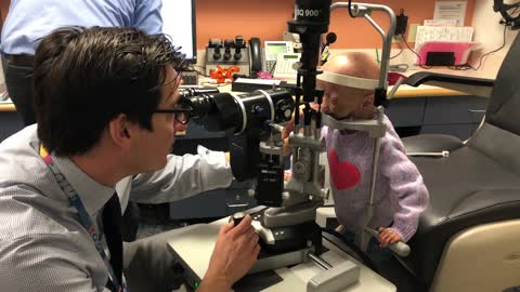 Adalia Rose gets her checkup at Boston Children's Hospital