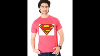 Turquoise Colour Justice League Superman Cotton T Shirts - Video