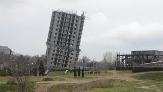 Building Demolition In Sevastopol - Video