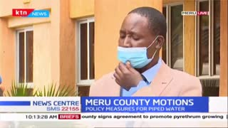Meru county motions- Policy measures for piped water