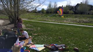 Baby flies kite like a pro - Video