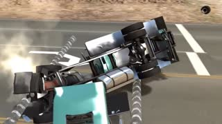 REVERSE VIDEO MACK TRUCK TEST Slowmotion satysfying reverse video