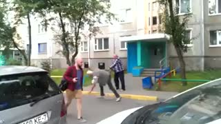 2 Old Guys Fighting - Video