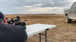 Shooting a.270 win at 500 yards suppressed.
