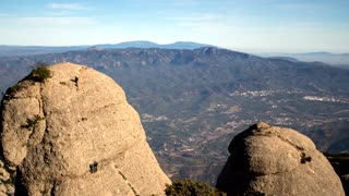 Amazing time-lapse footage of Montserrat mountain, rocks and lights