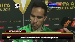 VIDEO: Claudio Bravo's reaction after Messi retirement from Argentina National Team - Video