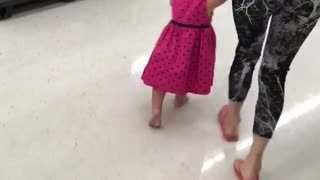 Happy toddler lets everyone know just how happy she is!  - Video
