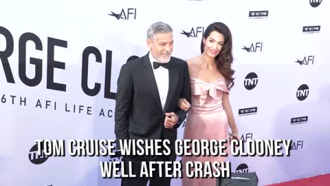 Tom Cruise wishes George Clooney well after crash