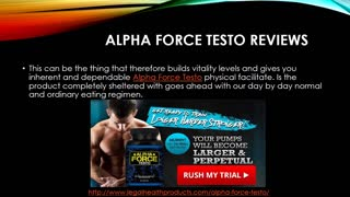 Read Alpha Force Testo Reviews, Side Effects and Result - Video