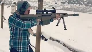 Shoulder firing a 50 cal - Video