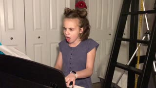 11-year-old emotionally sings cover song after dad's car accident