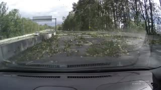 Powerful windstorm in BC causes road delays - Video