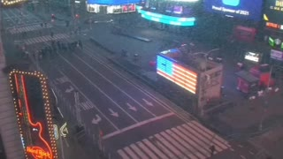 Empty NYC Times Square on New Year's Eve