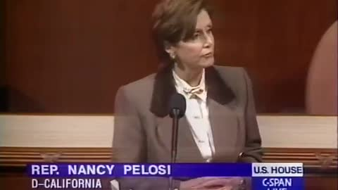 Pelosi During Clinton Impeachment: 'Republicans In The House Are Paralyzed With Hatred of Clinton'