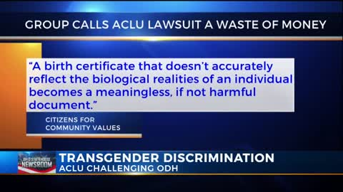 ACLU Sues to Allow Transgender Individuals to Change Birth Certificate 'For Any Reason, At Any Time'