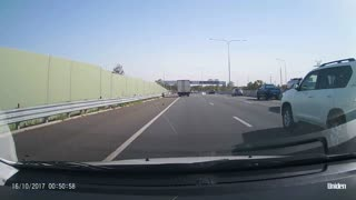 Fridge Falls From Car On Highway