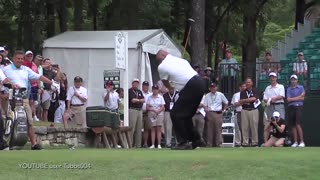 Charles Barkley Plays One-Handed And Finishes Dead Last In Celebrity Golf Tournament - Video
