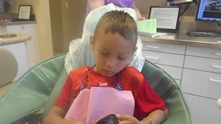 Dentist check up for 5 year old boy - Video