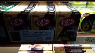 kitkat in Japan has unique flavor.. Green tea kitkat and Brown tea kitkat  - Video