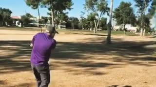 Near Death Golf Shot! - Video