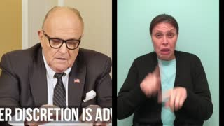 ASL Interpretation: WHAT REALLY HAPPENED On January 6th? | Rudy Giuliani | Ep. 101