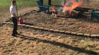 Lighting grass with gas!!  - Video